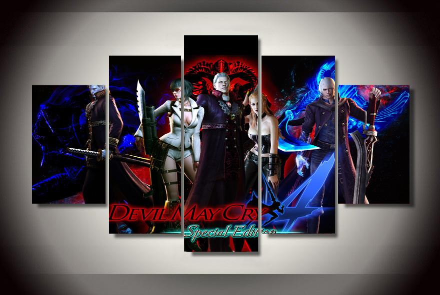 5 Piece Special Edition Devil May Cry Characters Canvas