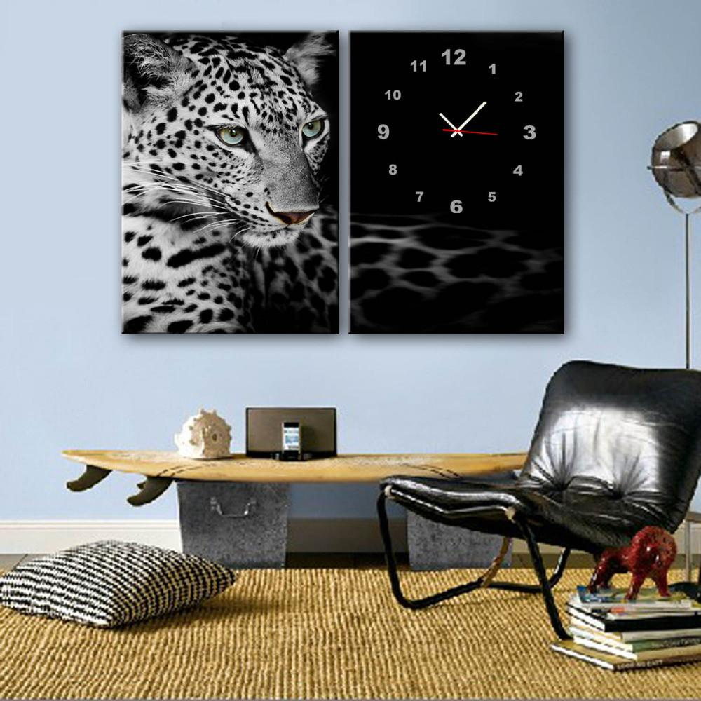 Leopard Clock Canvas