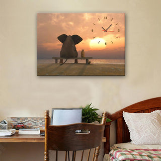Elephant Wall Clock Canvas