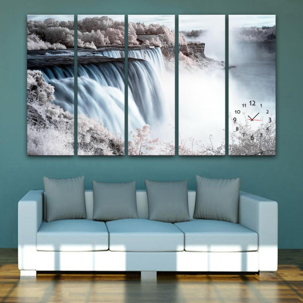 Waterfall Clock Canvas