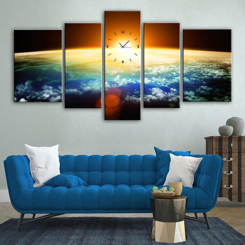 Space Wall Clock Canvas