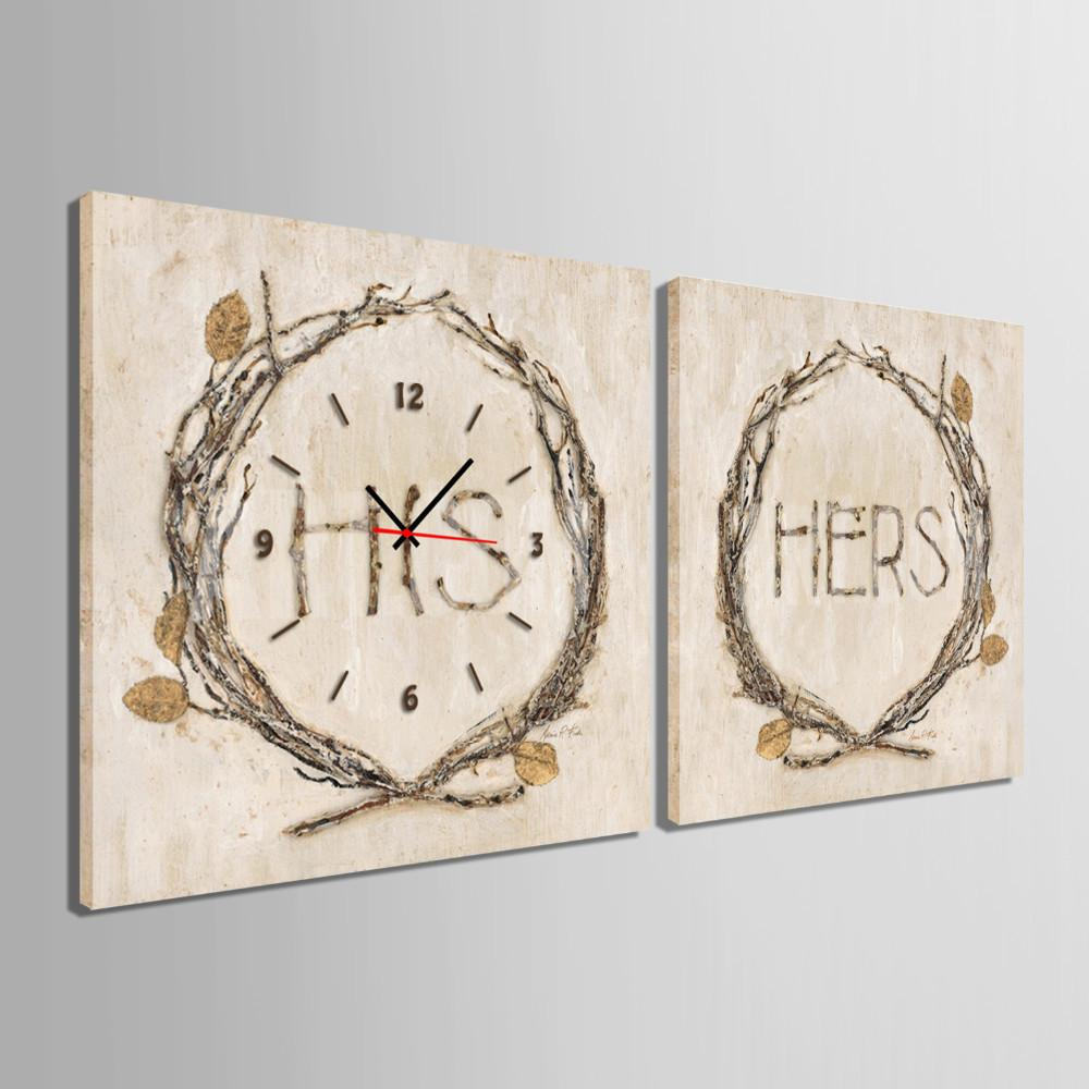 His & Hers Wall Clock Canvas
