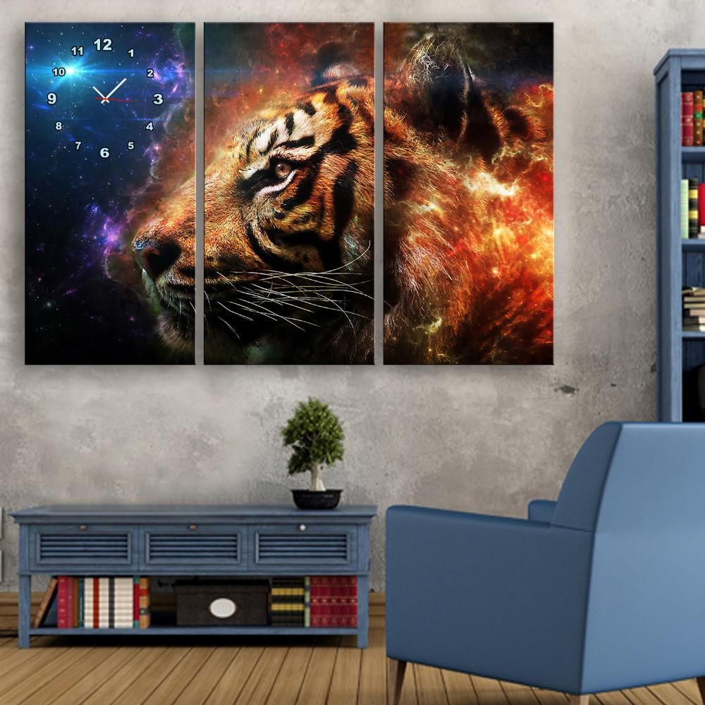 Tiger Wall Clock Canvas