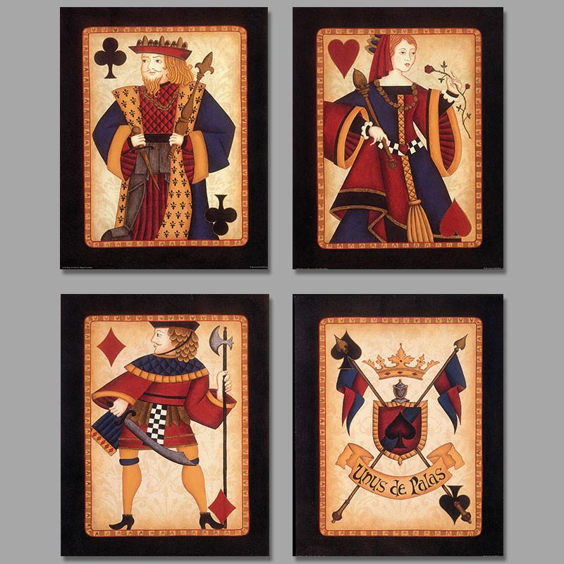 King & Queen Poker Set Canvas