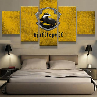 5 Piece Hufflepuff Team Canvas