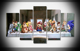 "5 Panel ""The Super Smash Bro's"""