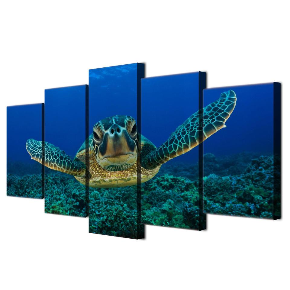 "Turtle ""Under The Sea"" Canvas"