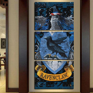 3 Piece Home Wall Ravenclaw Crest Canvas