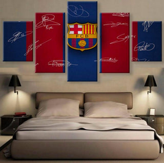 5 Panel Barcelona Signature Canvas