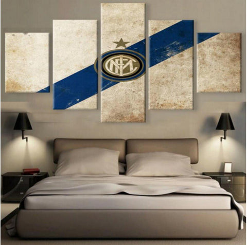 5 Panel Inter Milan Team Canvas
