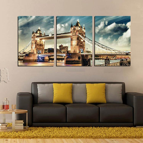 3 Piece London Tower Bridge Canvas