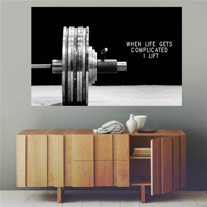 Fitness Poster Canvas