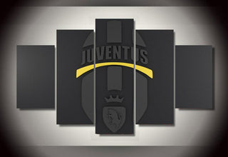 5 Panel Juventus Soccer Canvas