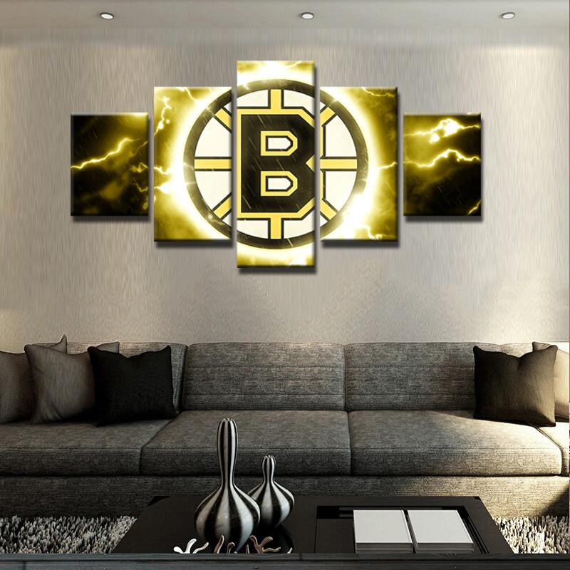 5 Piece Boston Bruins Canvas