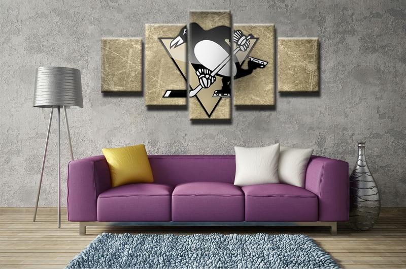 5 Piece Pittsburgh Penguin Canvas