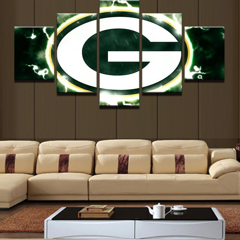5 Piece Green Bay Packers Canvas