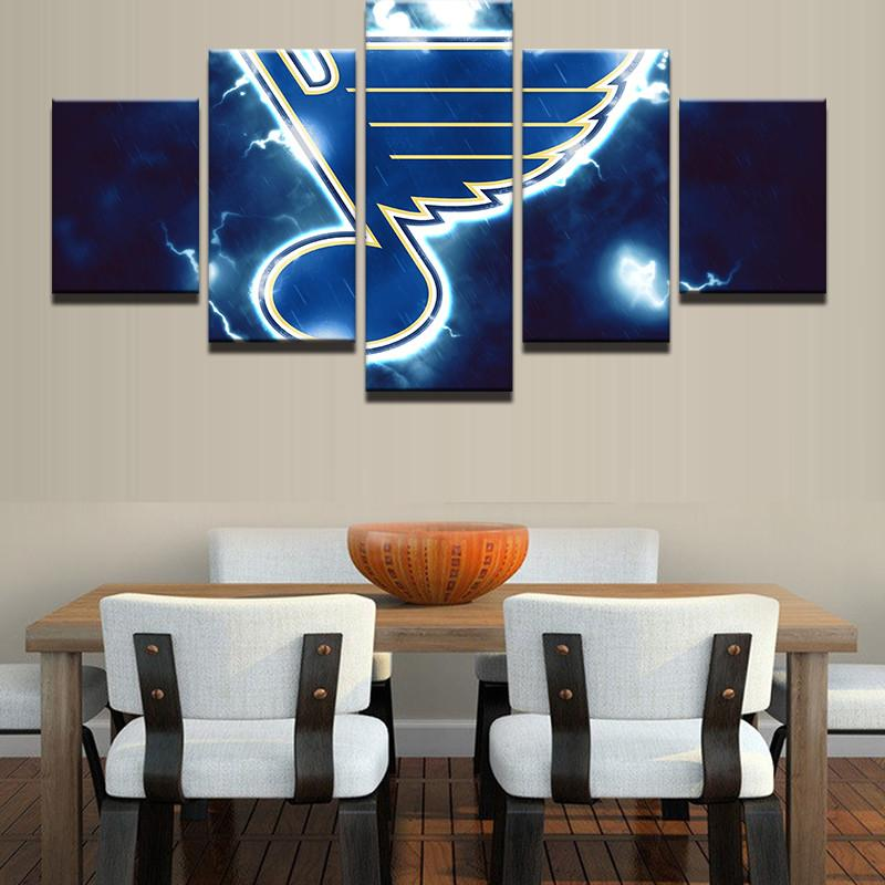 5 Piece St.Louis Blues Canvas