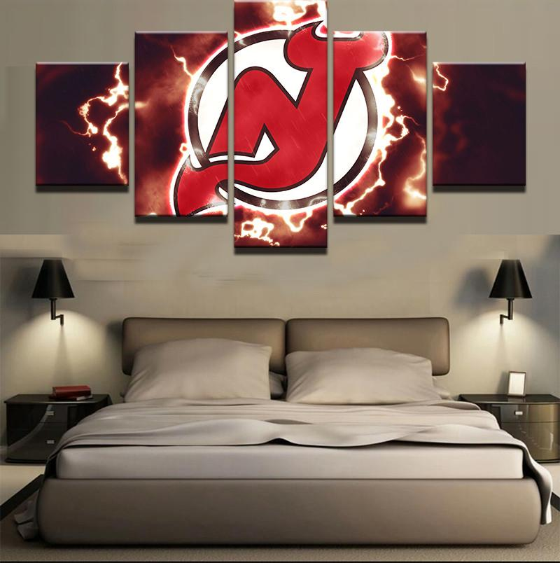 5 Pieces New Jersey Devil Canvas