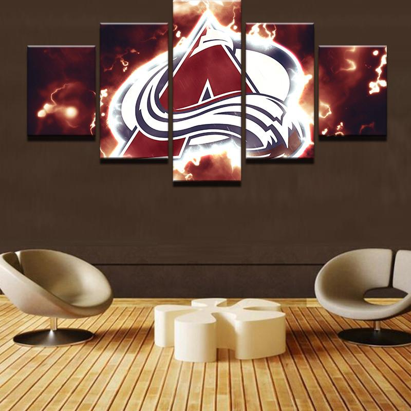 5 Piece Colorado Avalanche Canvas