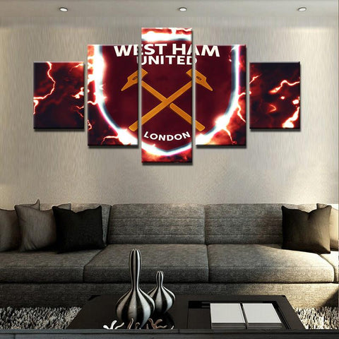 5 Piece West Ham United London Canvas