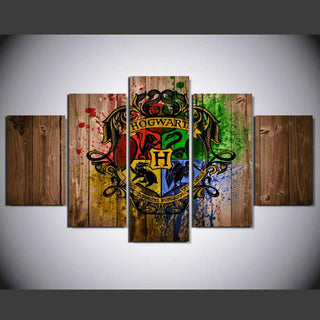 5 Panel Harry Potter Hogwarts Canvas