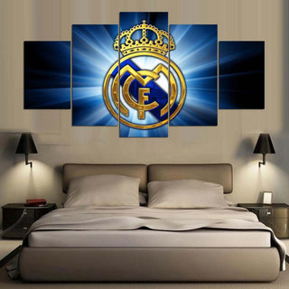 5 Panel Real Madrid Team Canvas