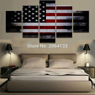 5 Panel Red White and Blue Flag Canvas