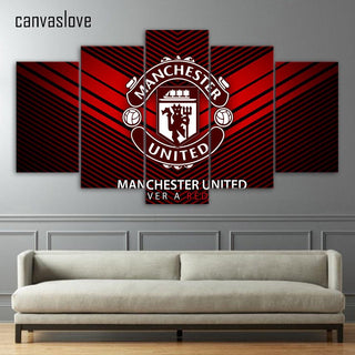 5 Panel Manchester United Team Canvas