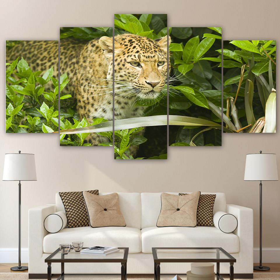 5 Panel The Leopard Canvas