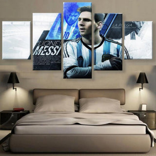 5 Panel Argentina Messi Canvas