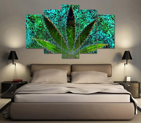 Trippy Weed Abstract Canvas
