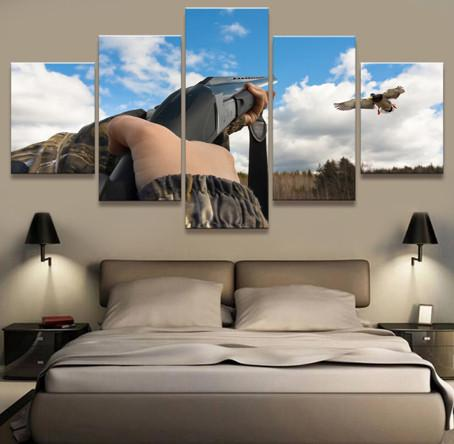5 Panel Bird Hunting Canvas