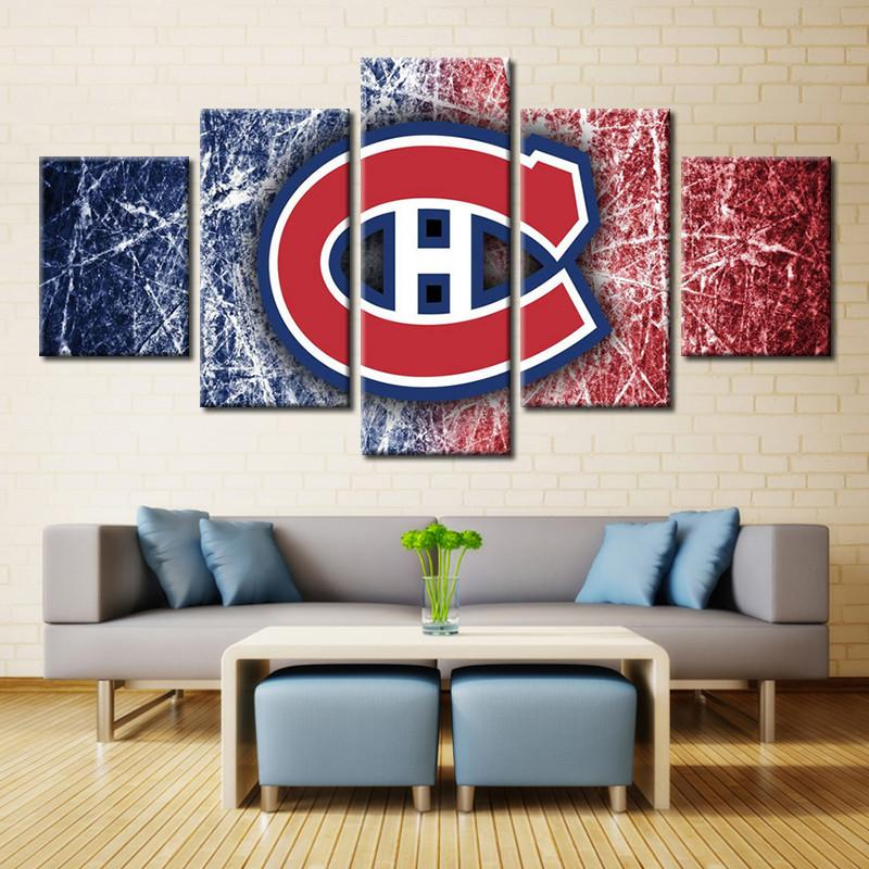 5 Piece Montreal Canadiens Canvas