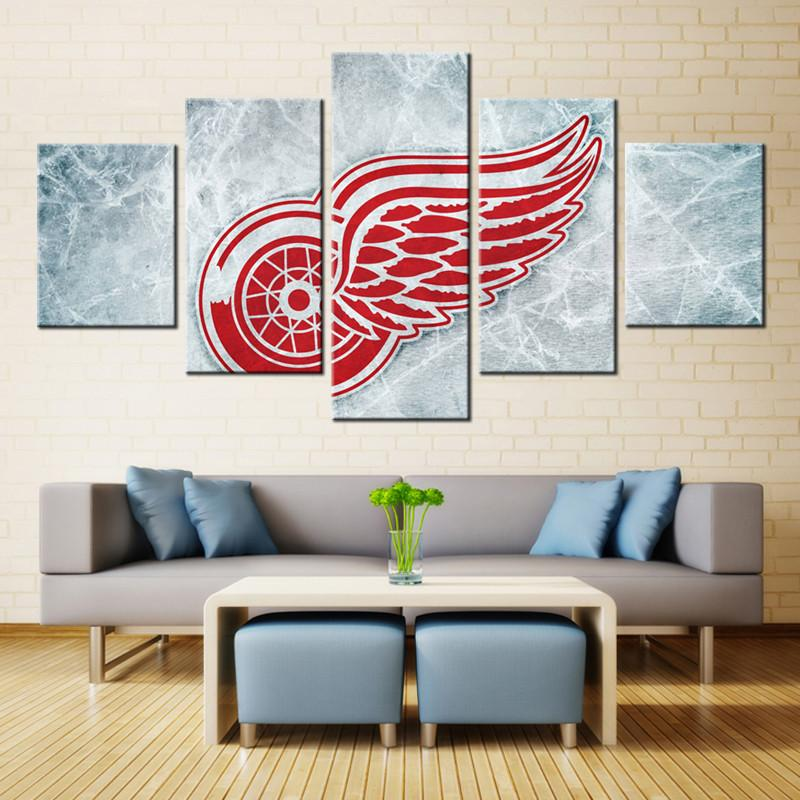 5 Pieces Detroit Red Wings Canvas
