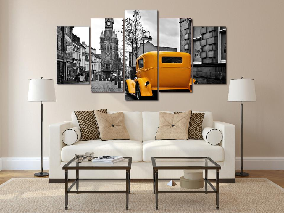 5 Piece London Taxi Canvas