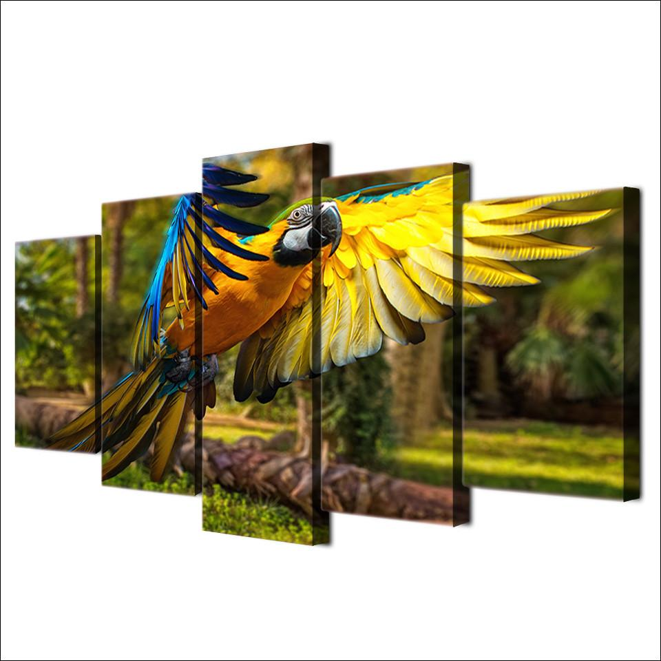 "Parrot ""Forest Wings"" Canvas"