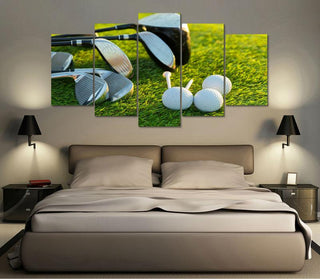 5 Panel Golf Club Set Canvas