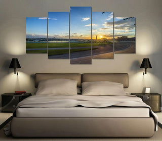 5 Panel Nascar Race-Track Canvas