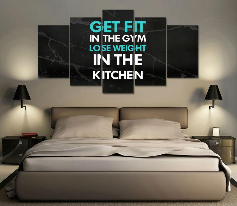 "Fitness ""Get Fit In Kitchen"" Canvas"