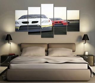 5 Panel Nascar Close-Up Canvas