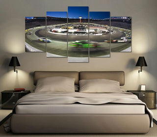 5 Panel Nascar Race Track Canvas