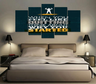 "Fitness ""Don't Quit"" Canvas"