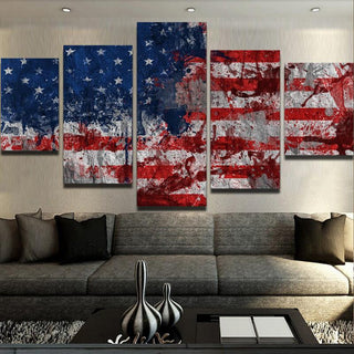 "American Flag ""Blood And Sweat"" Canvas"