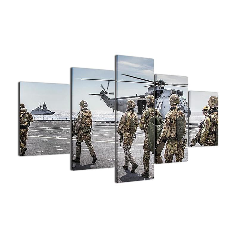 Italian Military Special Group Canvas