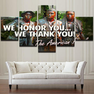 "5 Panel American ""Vietnam War Heroes"" Canvas"