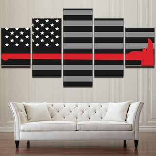 "Thin Red Line ""Axe"" Canvas"