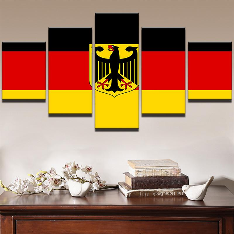 Coat of Arms Germany Flag Canvas