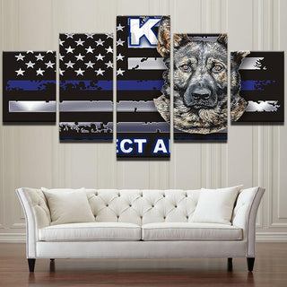 Thin Blue Line K9 Canvas