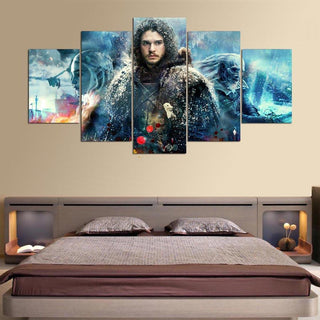 5 Panel Game Of Thrones Battle Canvas