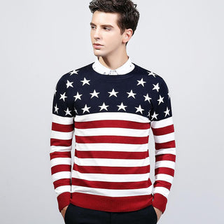 Men's Red American Winter Sweater